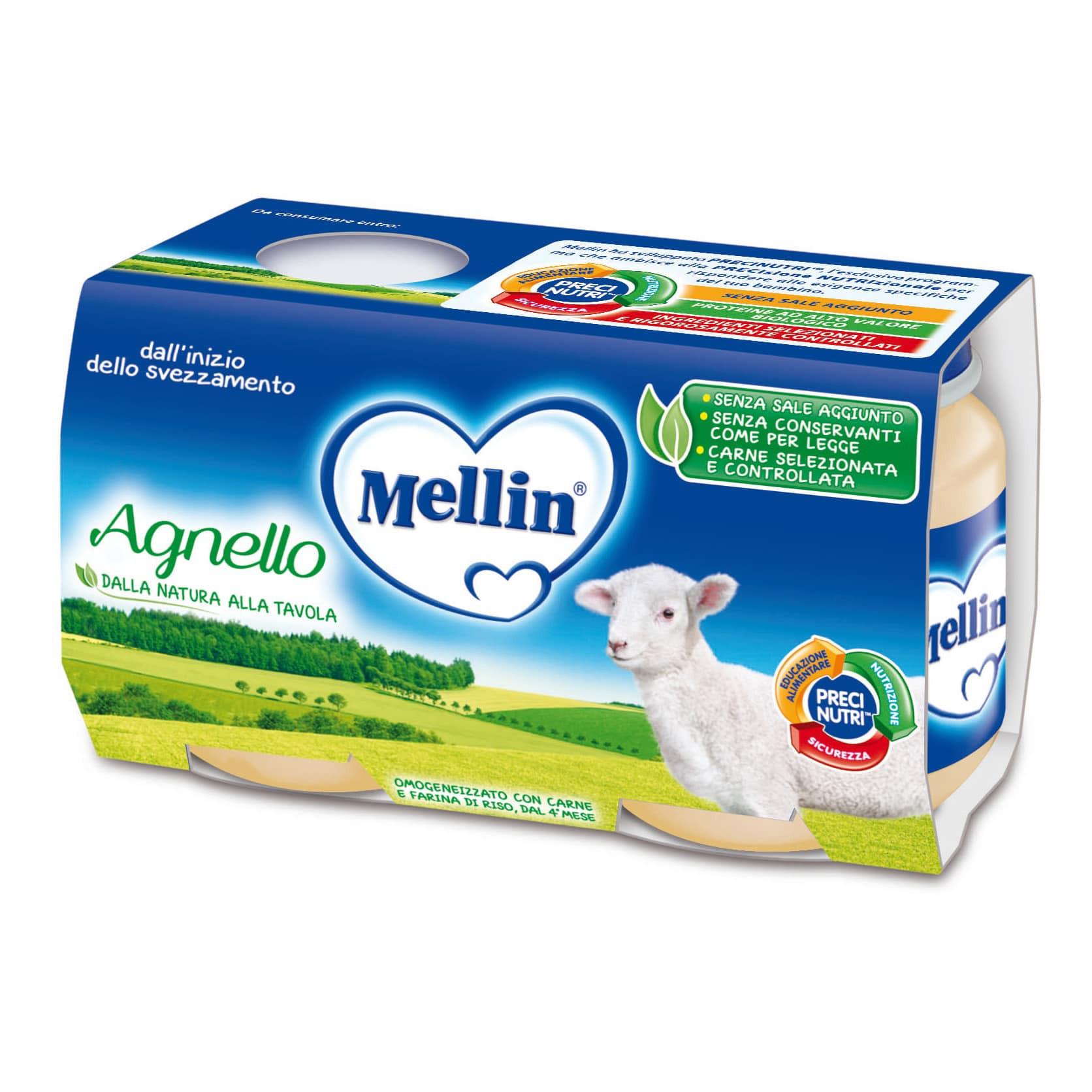 Omogeneizzato Agnello Mellin - 2 x 120 g