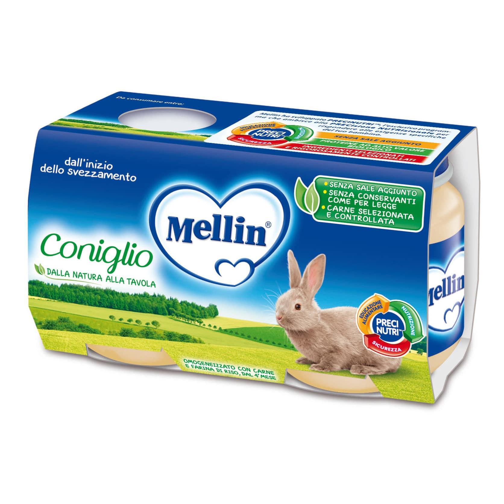 Omogeneizzato Coniglio Mellin - 2 x 120 g