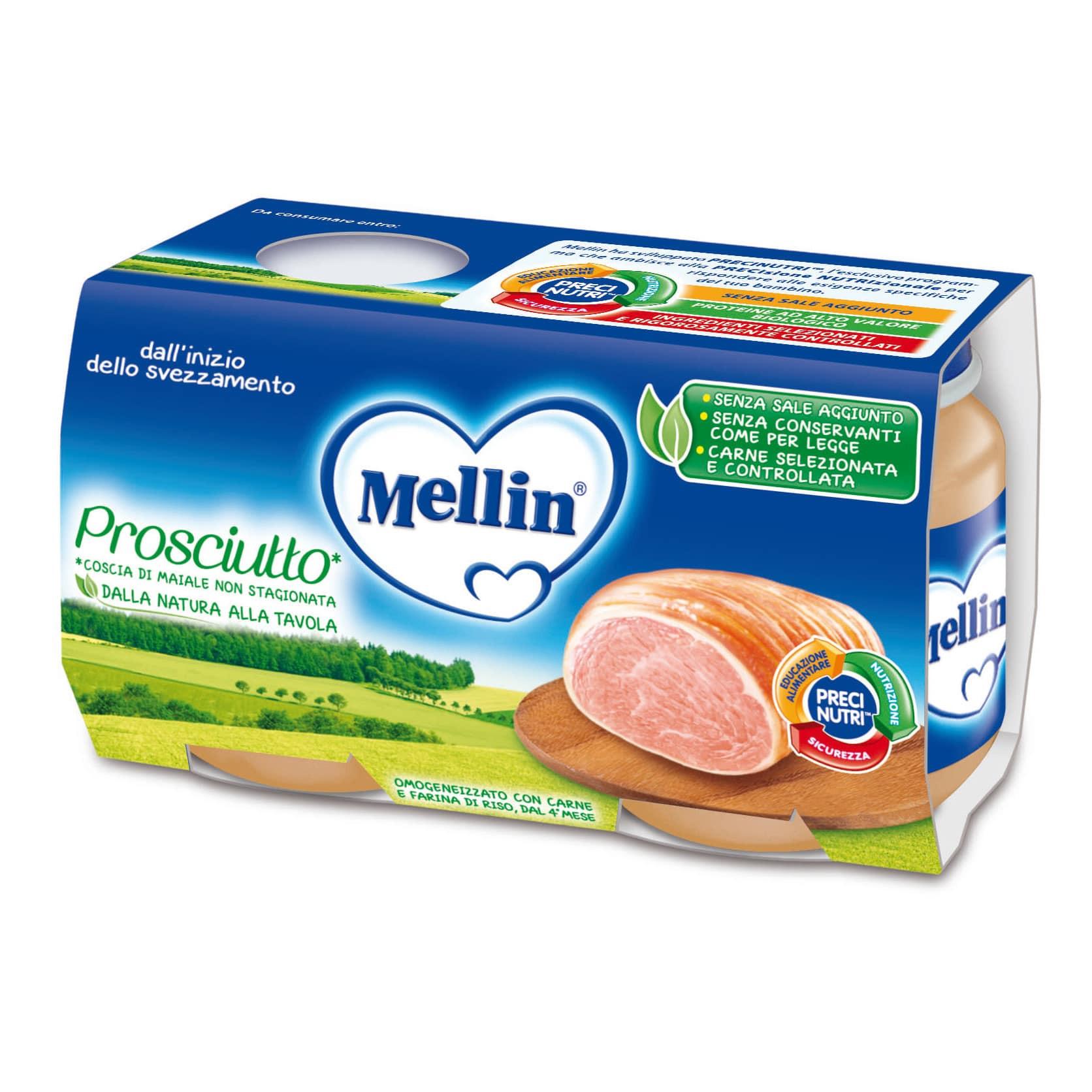 Omogeneizzato Prosciutto Mellin - 2 x 120 g