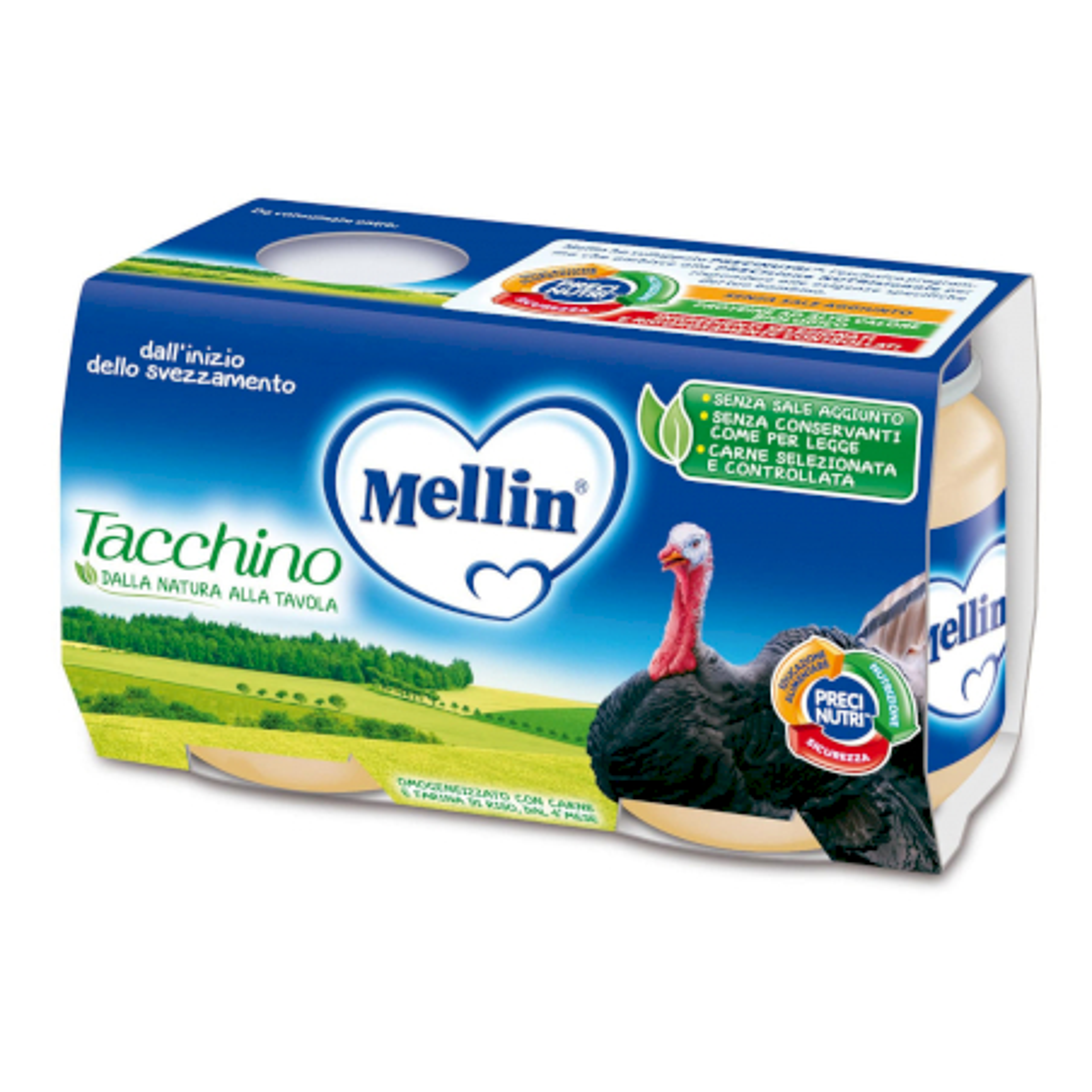 Omogeneizzato Tacchino Mellin - 2 x 120 g