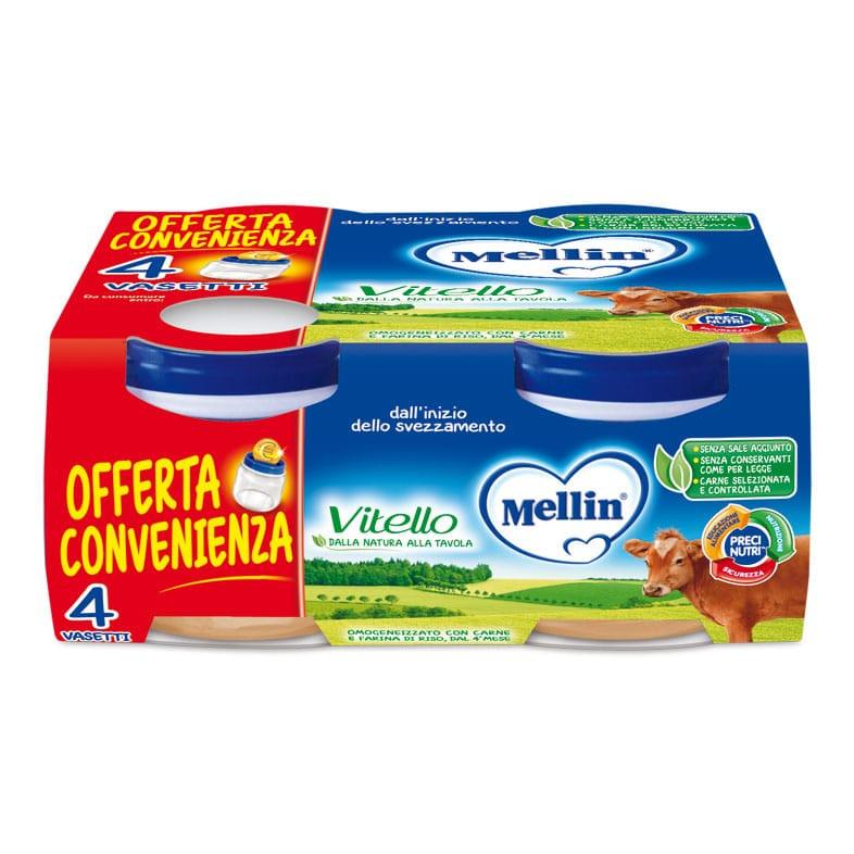 Omogeneizzato Vitello Mellin - 4 x 80 g