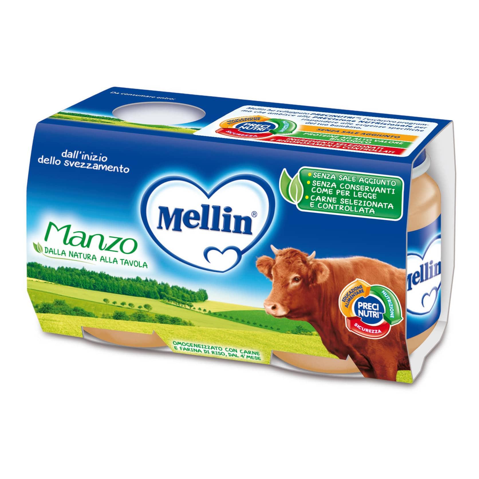 Omogeneizzato Manzo Mellin - 2 x 120 g