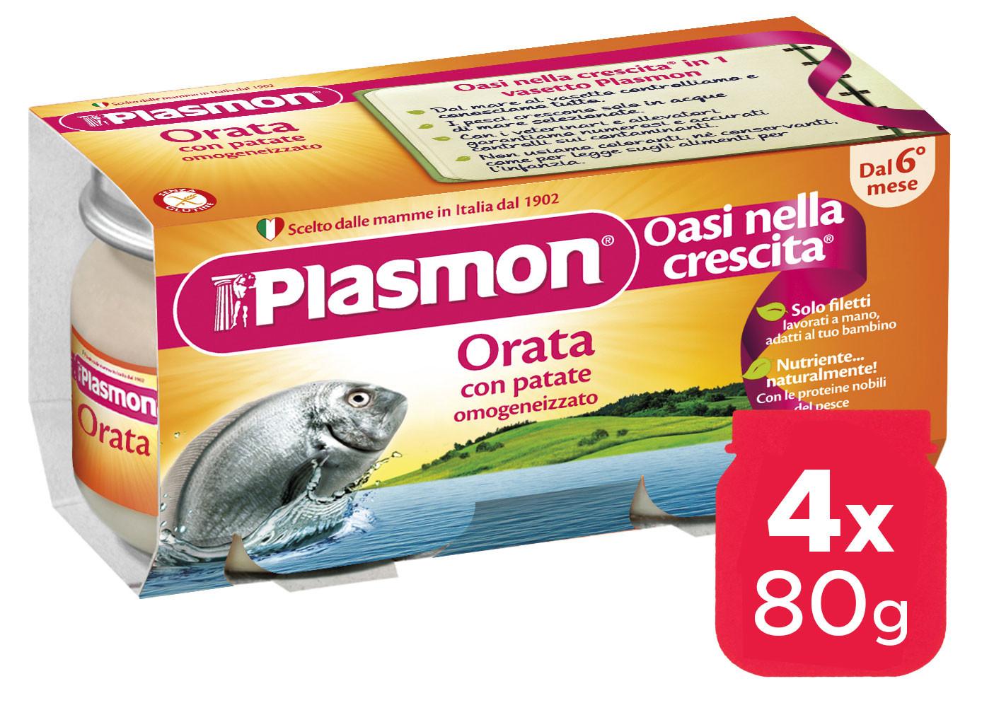 Omogeneizzato Orata Plasmon - 4 x 80 g
