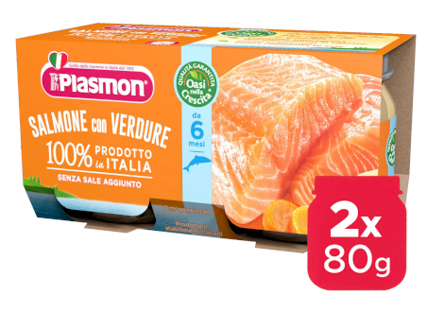 Omogeneizzato Salmone Plasmon - 2 x 80 g