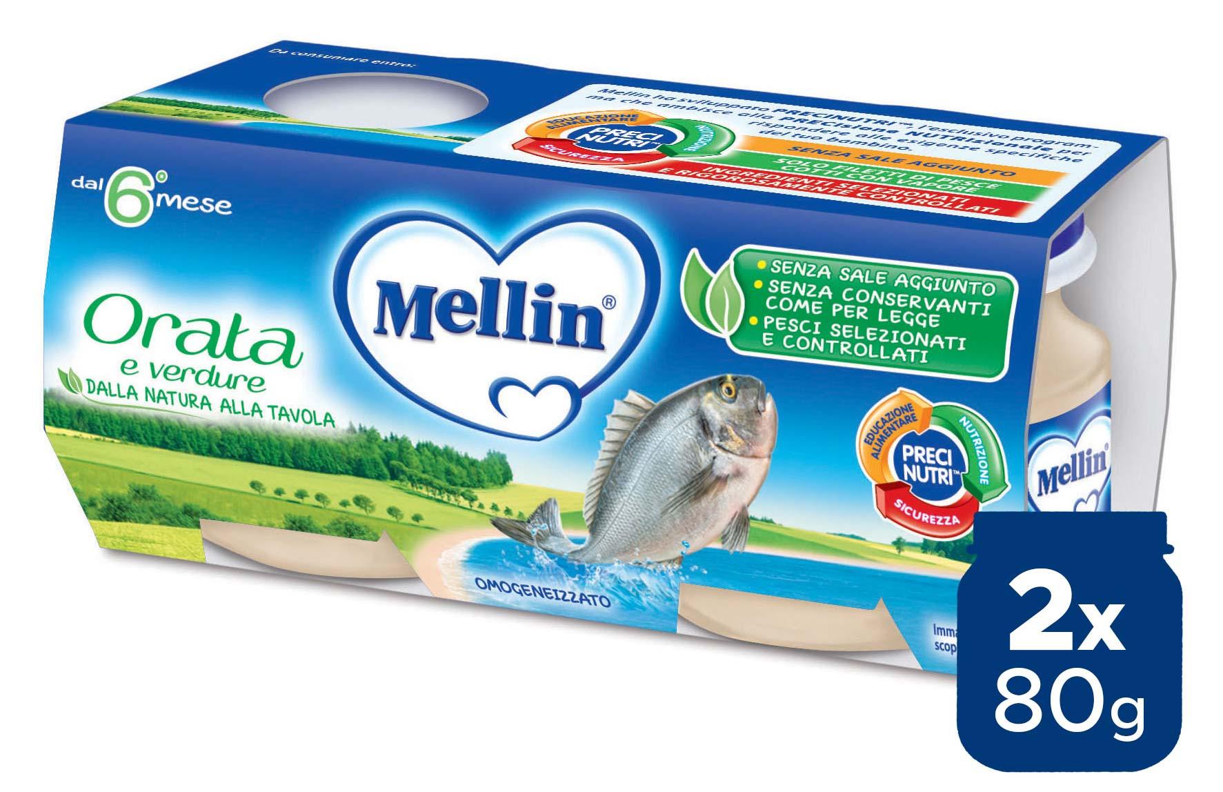 Omogeneizzato Orata Mellin - 2 x 80 g
