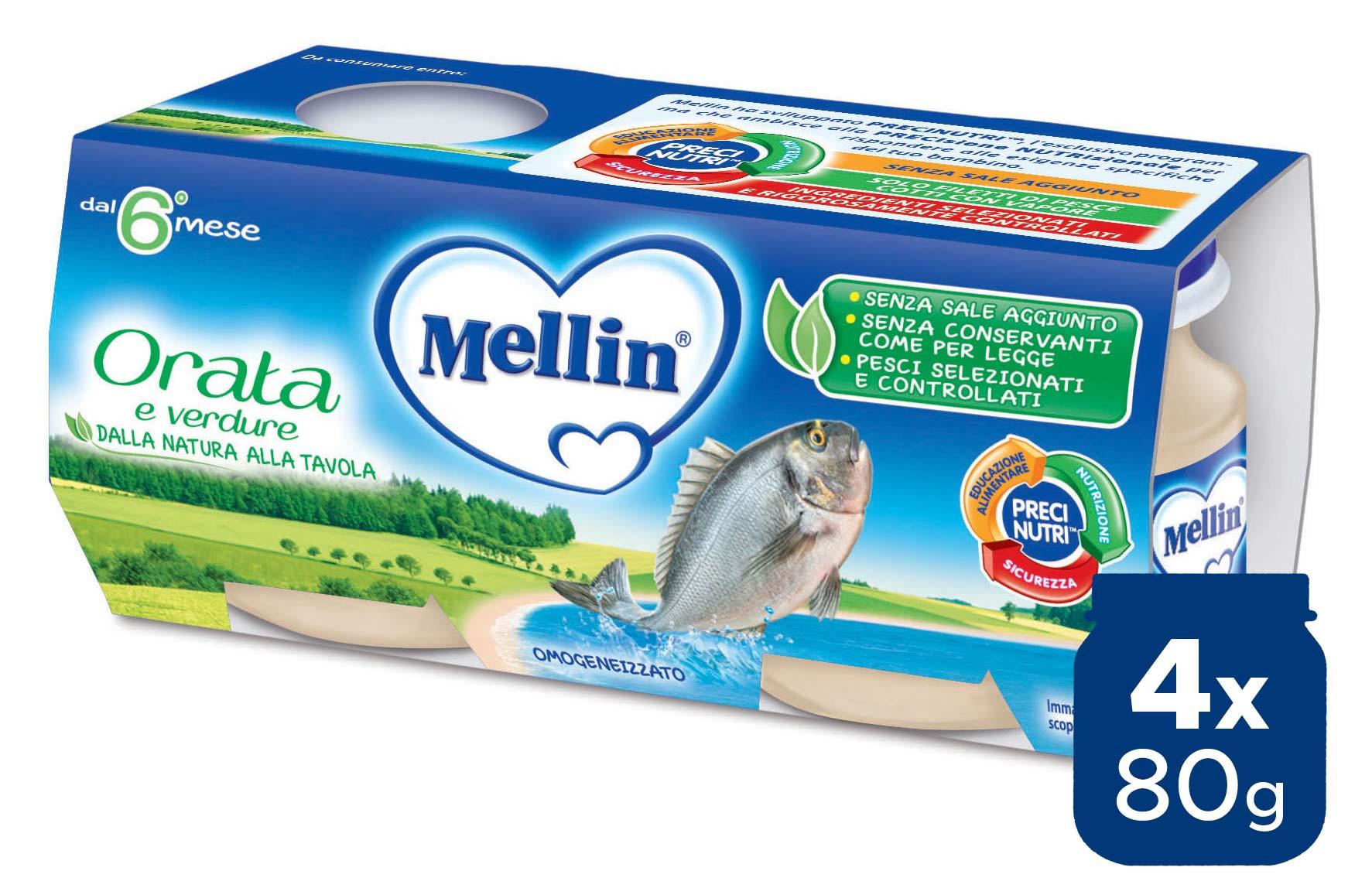 Omogeneizzato Orata Mellin - 4 x 80 g