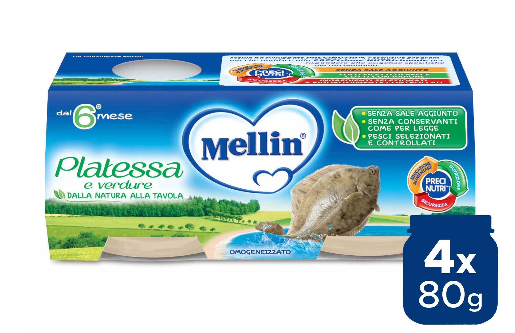 Omogeneizzato Platessa Mellin - 4 x 80 g