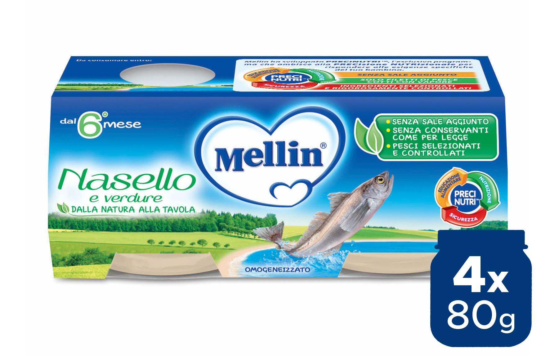 Omogeneizzato Nasello Mellin - 4 x 80 g