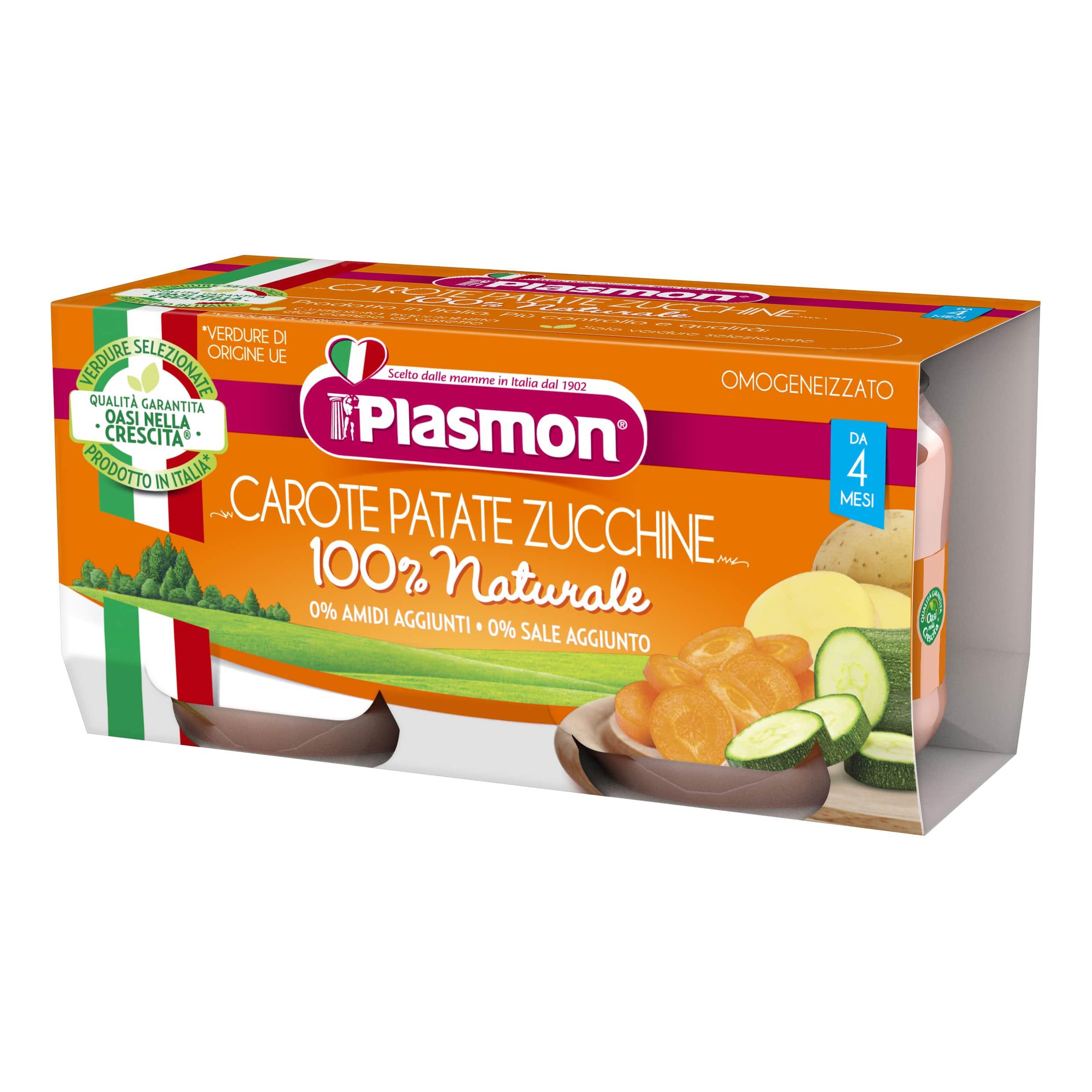 Omogeneizzato Carote, Patate e Zucchine Plasmon