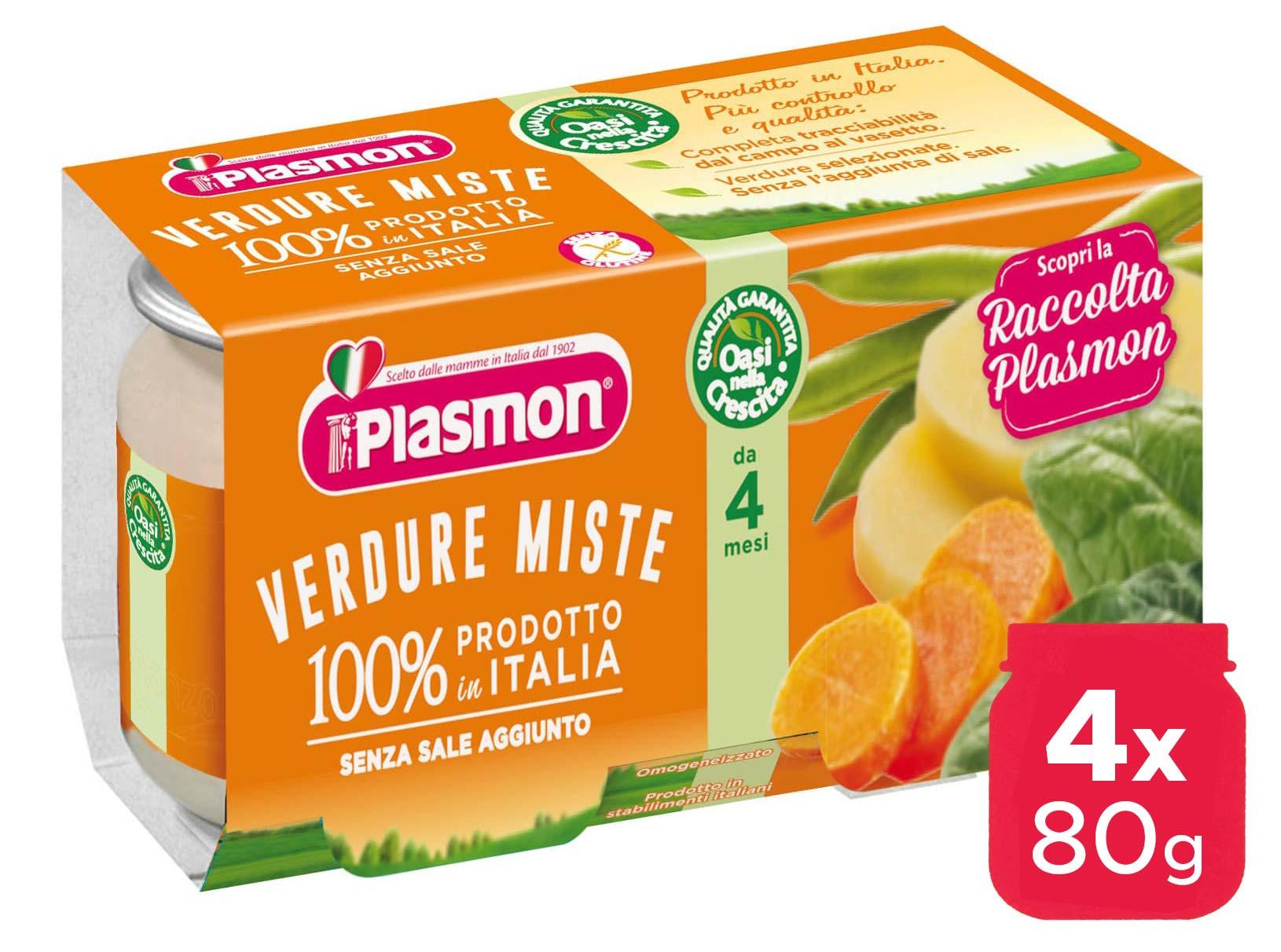 Omogeneizzato Verdure Miste Plasmon - 4 x 80 g