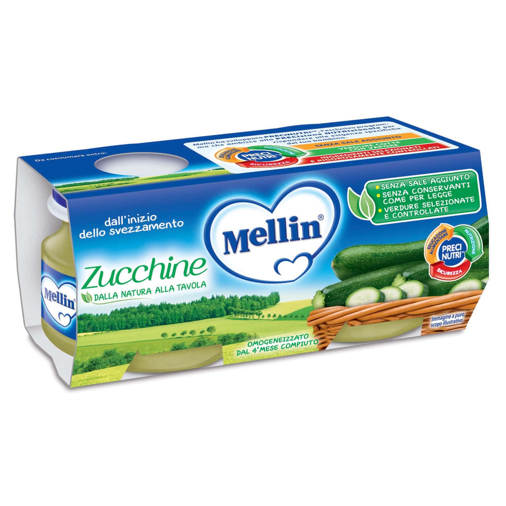 Omogeneizzato Zucchine Mellin