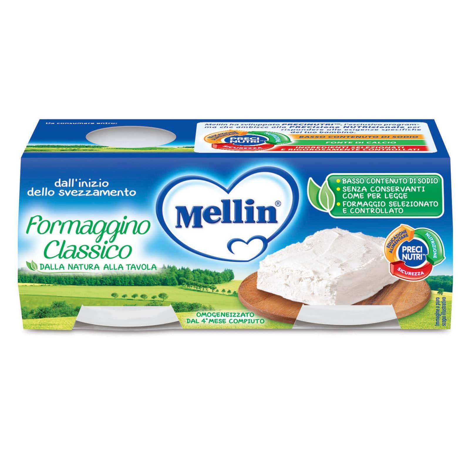 Omogeneizzato Formaggino Classico Mellin
