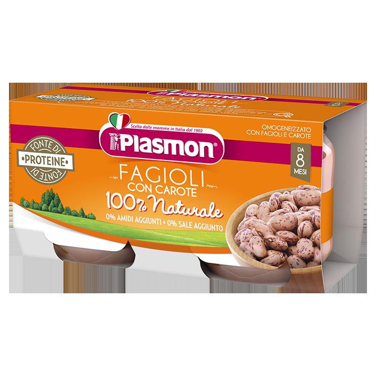 Omogeneizzato Fagioli con Carote Plasmon