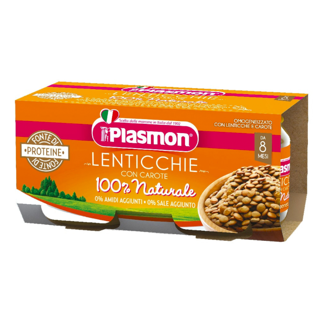 Omogeneizzato Lenticchie con Carote Plasmon