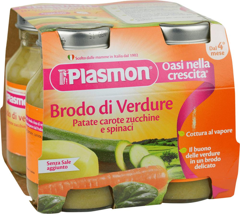 Brodo di Verdure Patate Carote Zucchine e Spinaci Plasmon