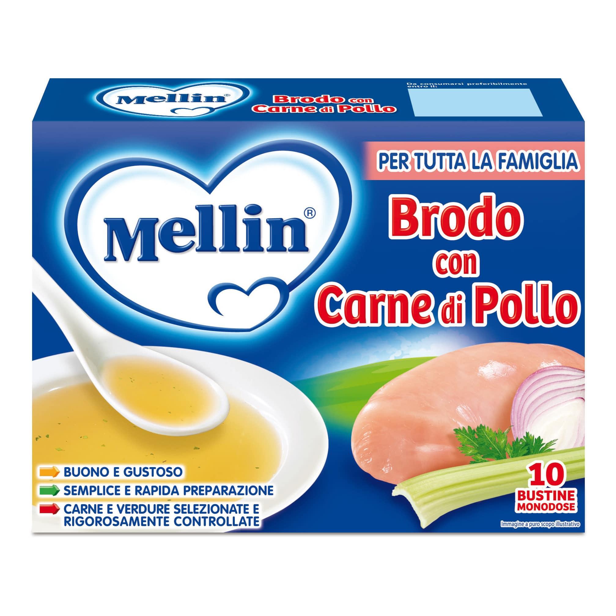 Brodo di Carne di Pollo Mellin