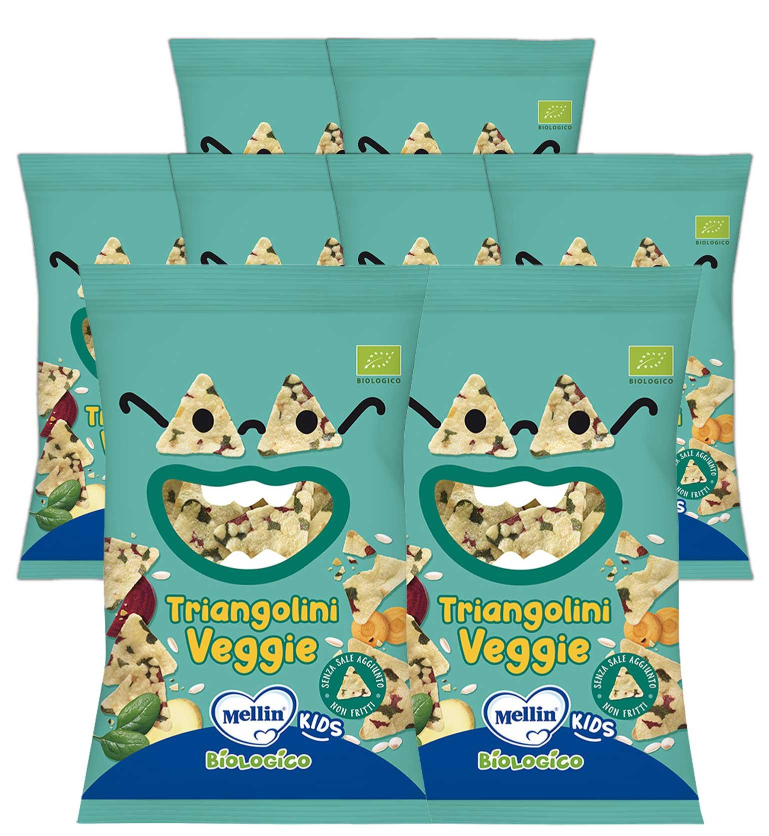 Triangolini Veggie Mellin - 8 confezioni