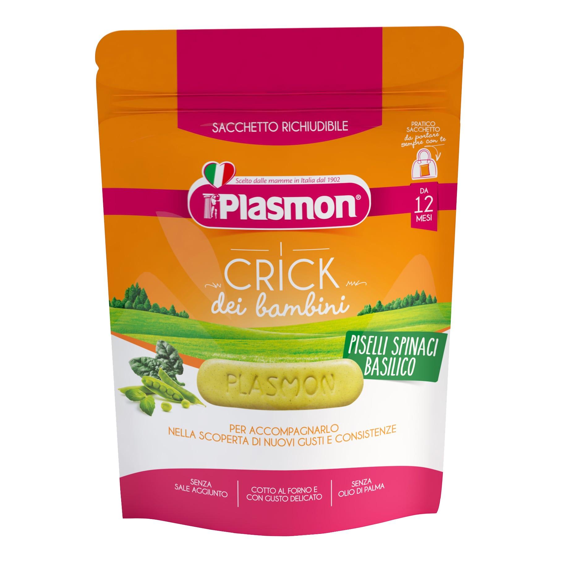 I Crick dei Bambini Plasmon - Piselli, Spinaci e Basilico