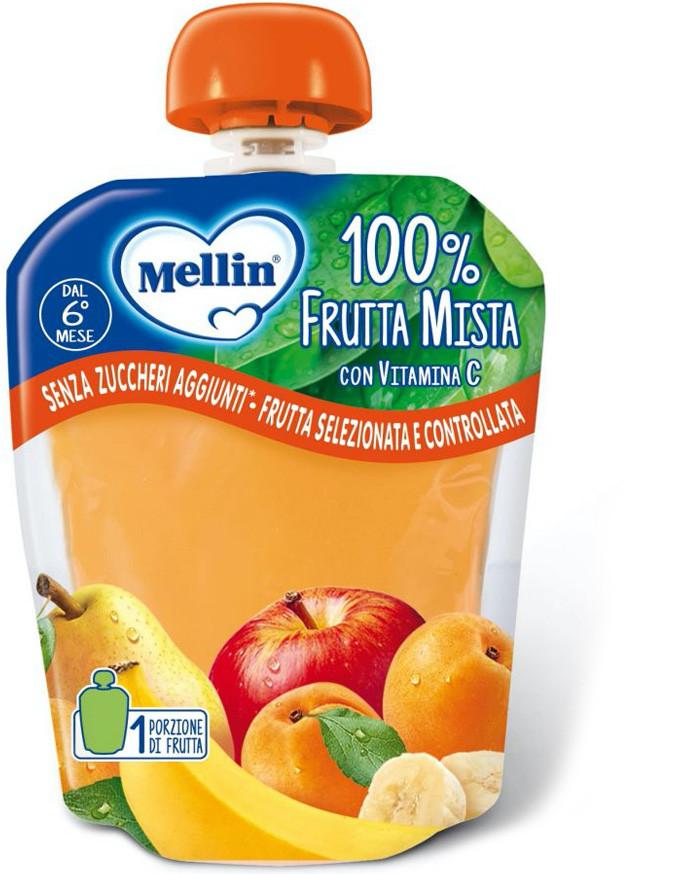 Merenda 100% Frutta Mellin - Frutta Mista