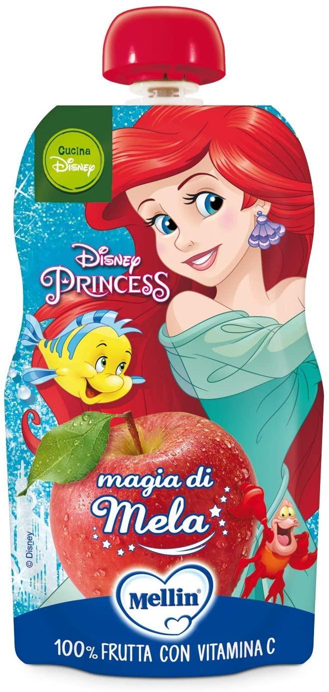 Merenda 100% Frutta Mellin con le Principesse Disney - Mela