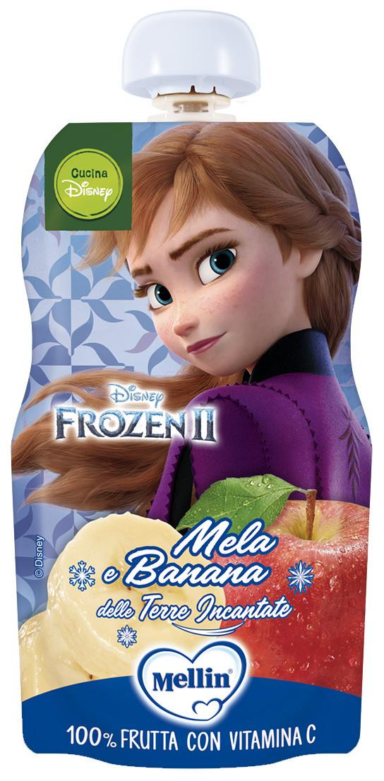 Merenda 100% Frutta Mellin con Frozen - Mela e Banana