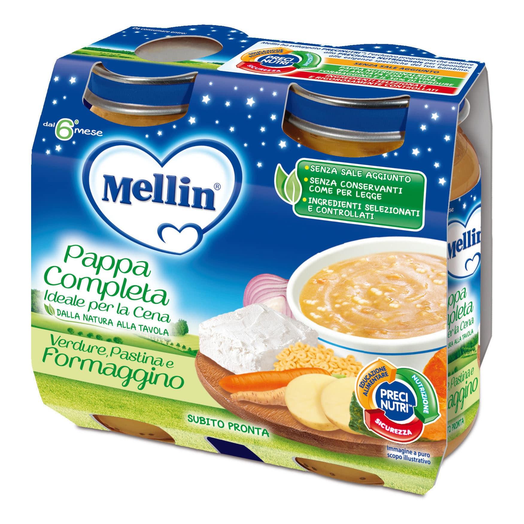 Pappa Completa Mellin - Pastina, Verdure e Formaggino