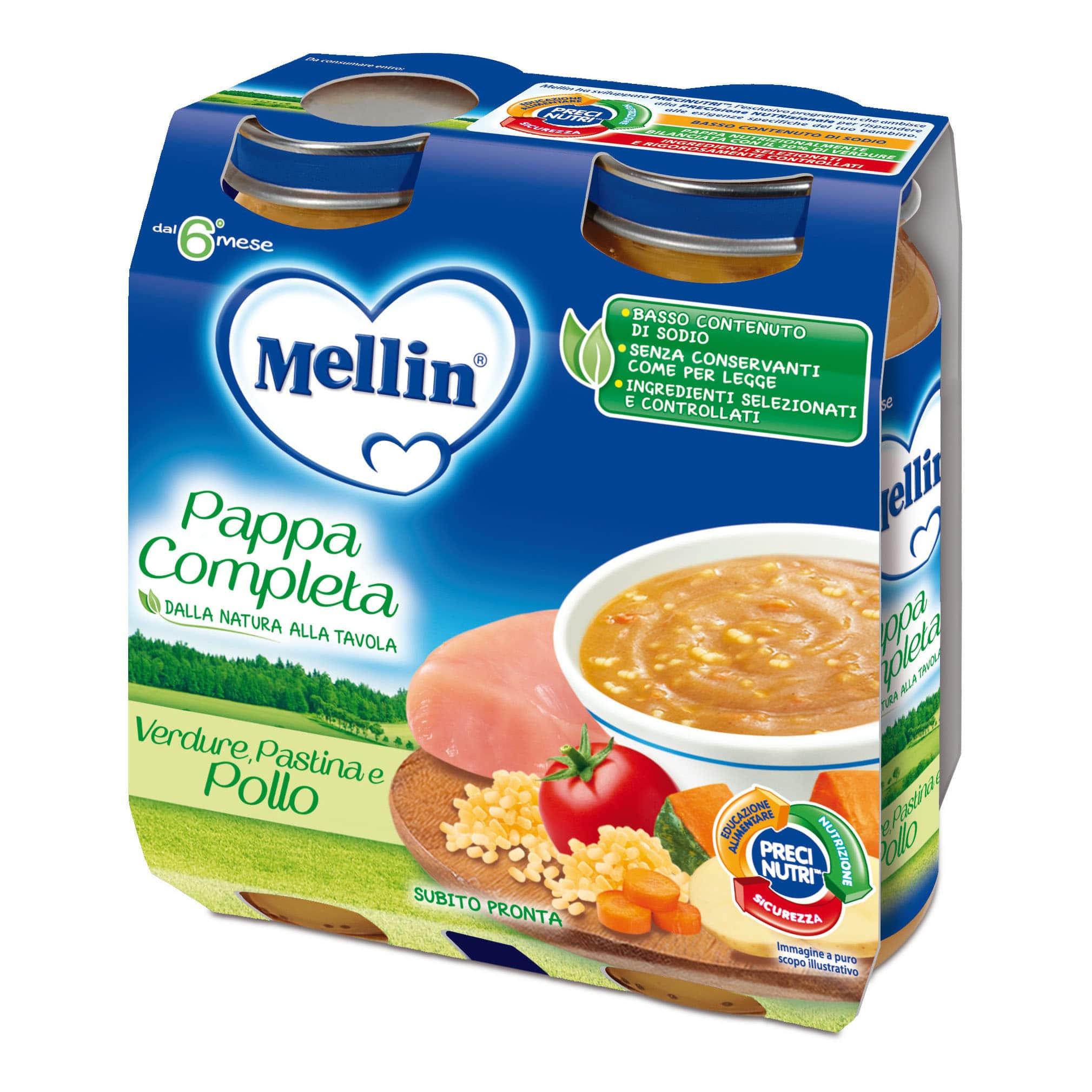 Pappa Completa Mellin - Verdure, Pastina e Pollo
