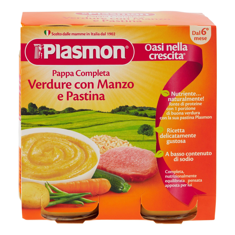 Pappa Completa Plasmon - Verdure con Manzo e Pastina