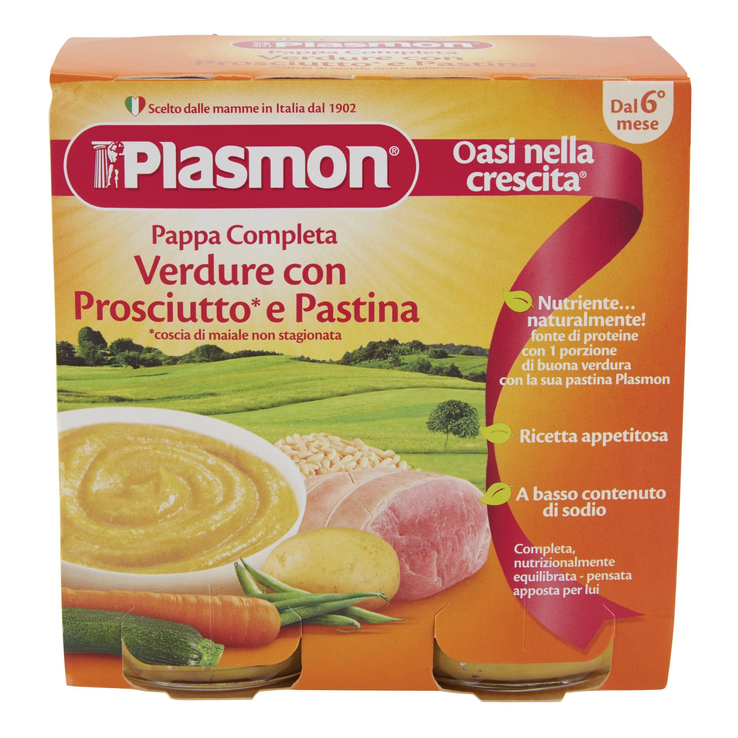 Pappa Completa Plasmon - Verdure con Pastina e Prosciutto