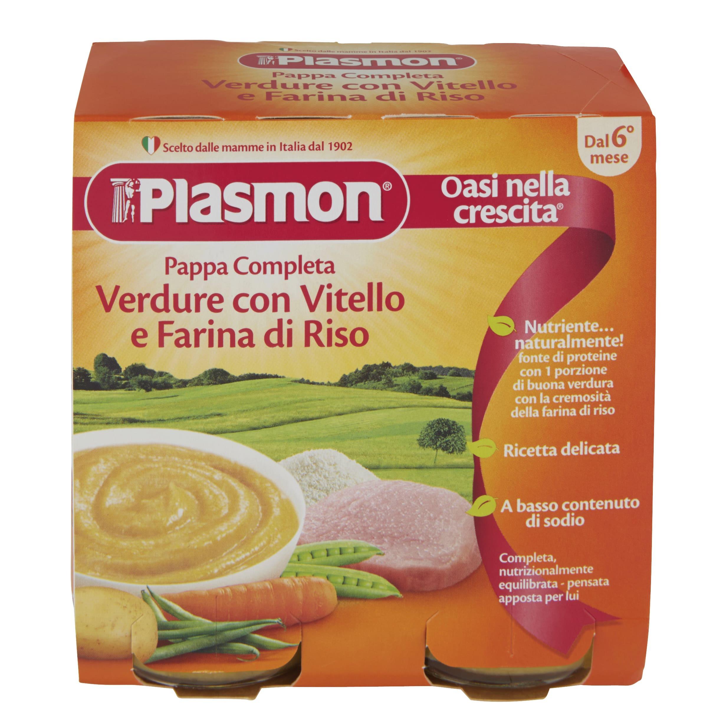 Pappa Completa Plasmon - Verdure con Vitello e Farina di Riso