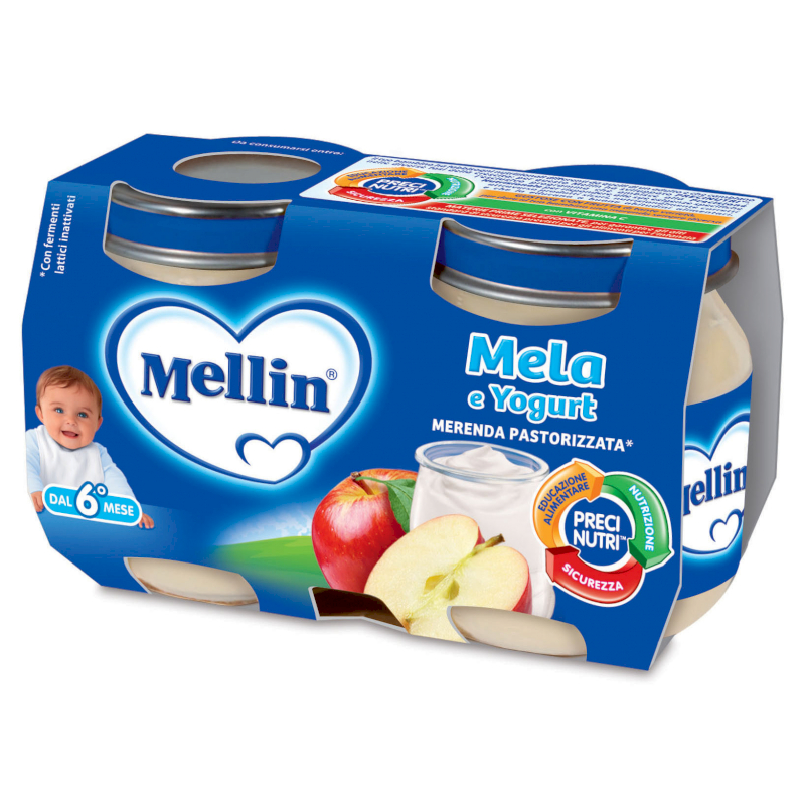 Merenda Mellin - Mela e Yogurt