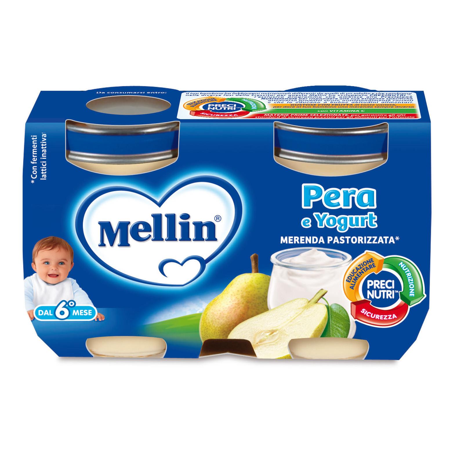 Merenda Mellin - Pera e Yogurt
