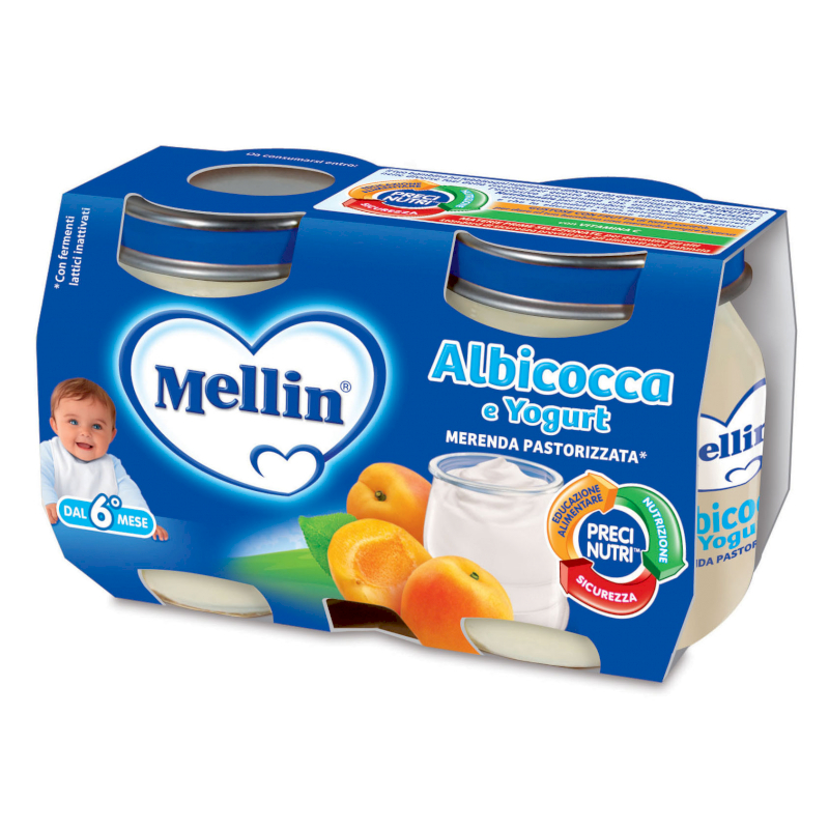 Merenda Mellin - Albicocca e Yogurt