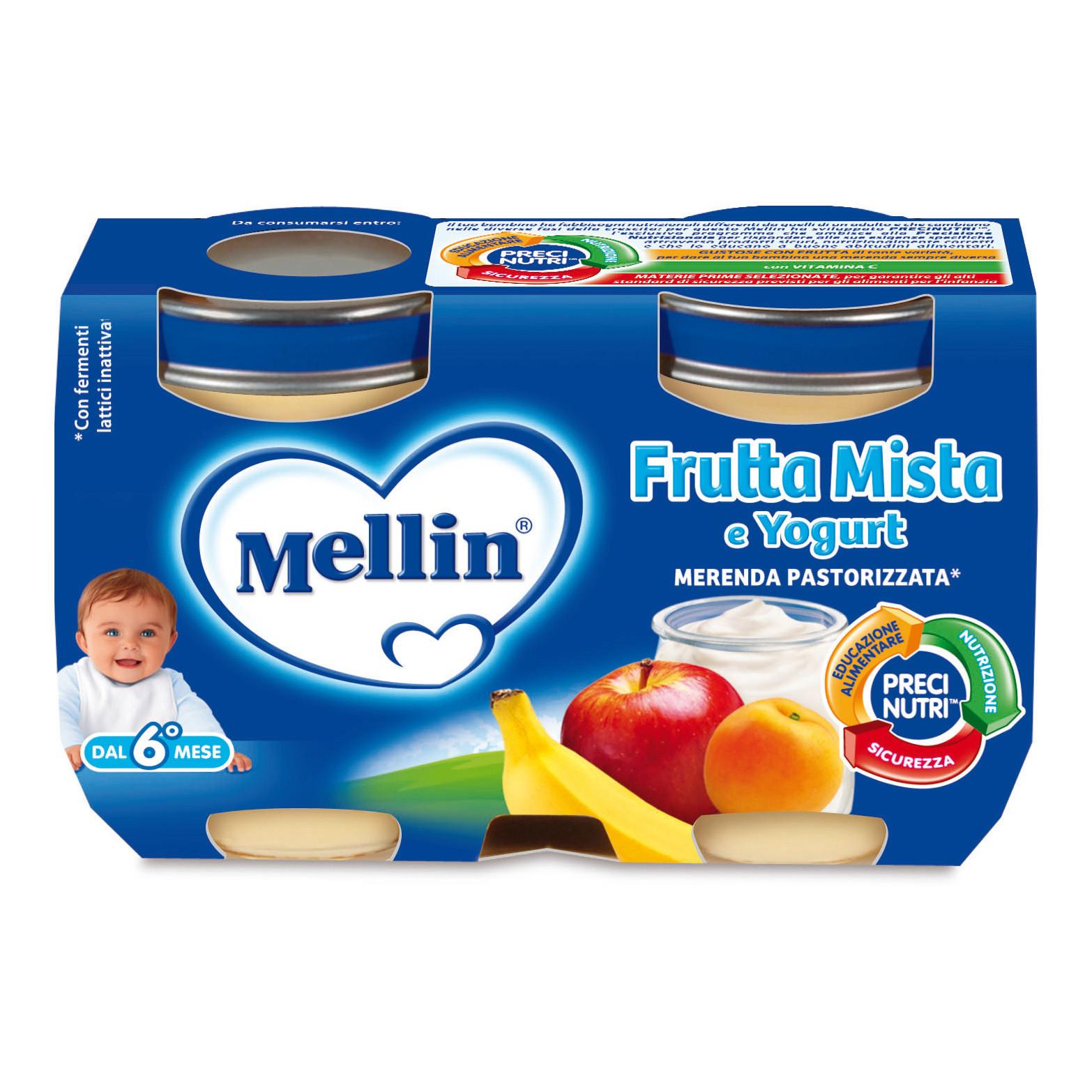 Merenda Mellin - Frutta Mista e Yogurt