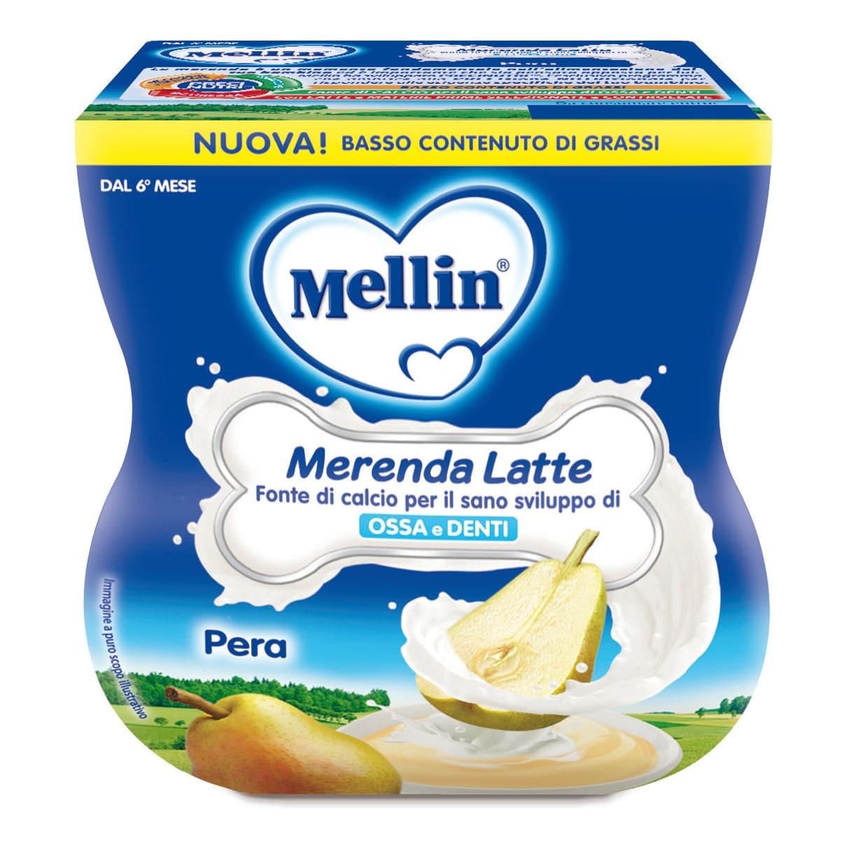 Merenda Latte e Pera Mellin