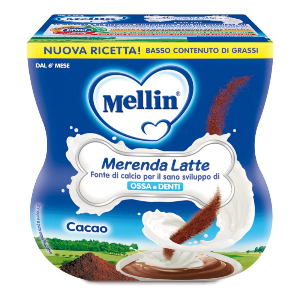 Merenda Latte e Cacao Mellin