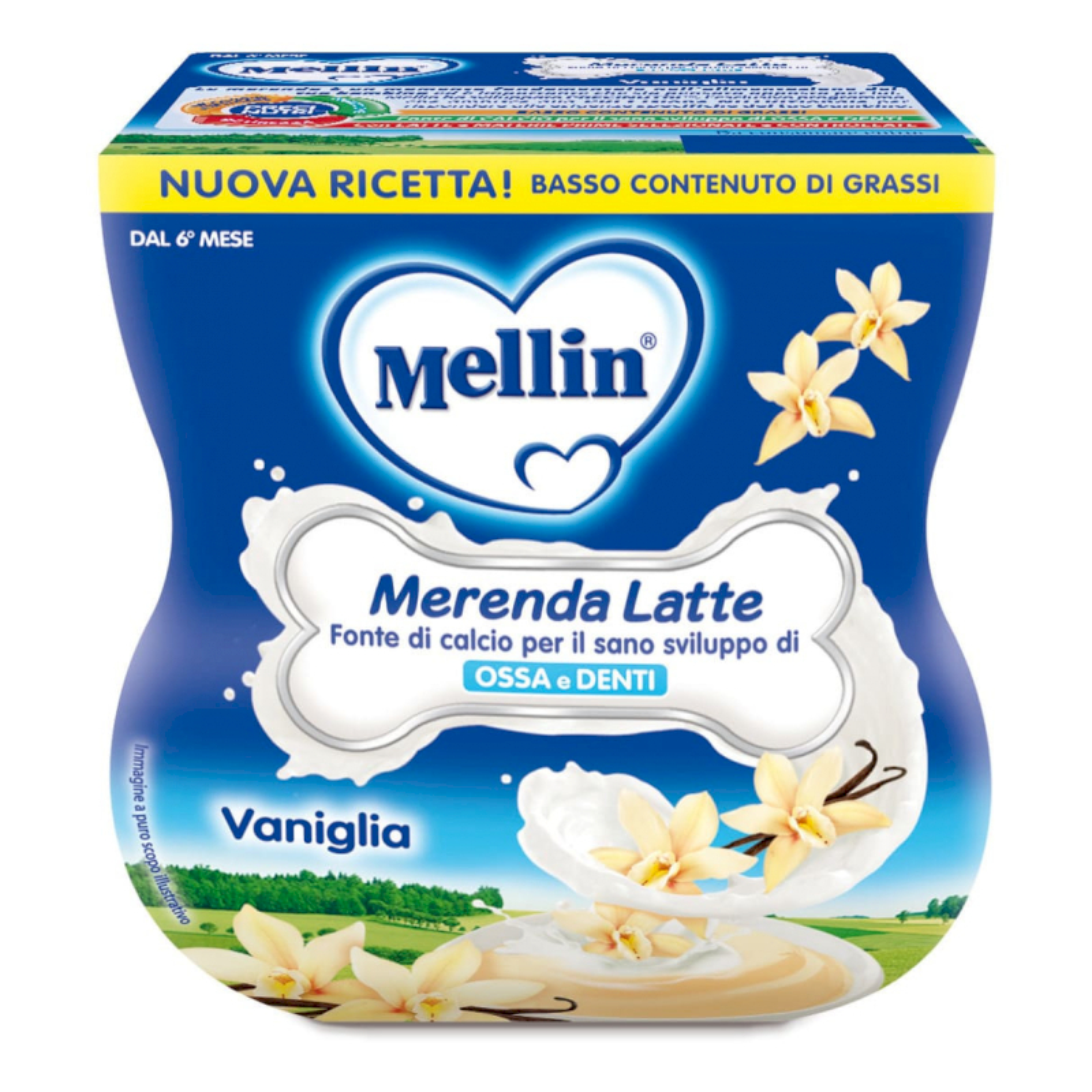 Merenda Latte e Vaniglia Mellin