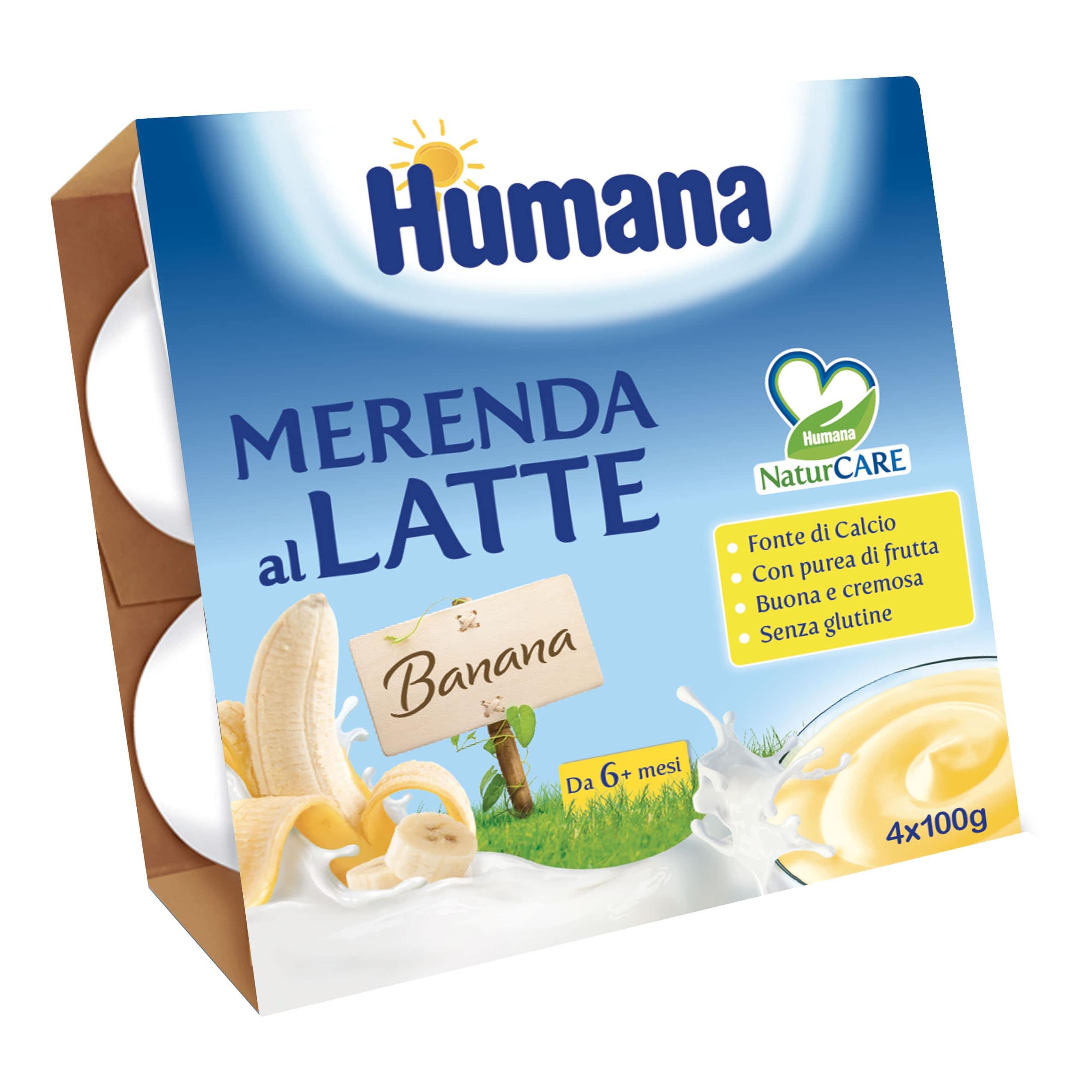 Merenda al Latte Humana - Banana
