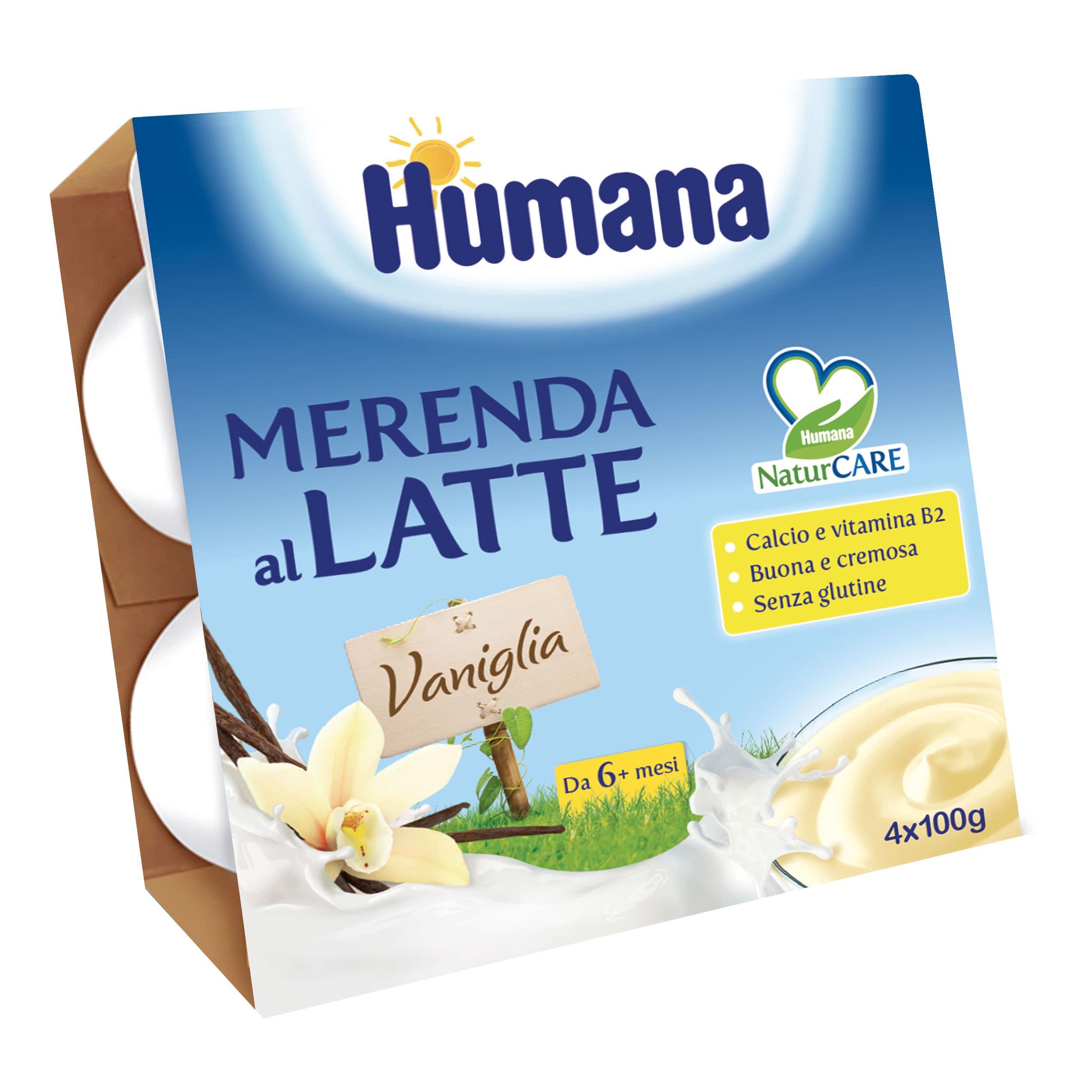 Merenda al Latte Humana - Vaniglia