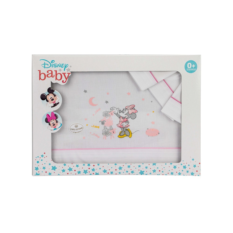 Set Lenzuola per Culla Disney Minnie