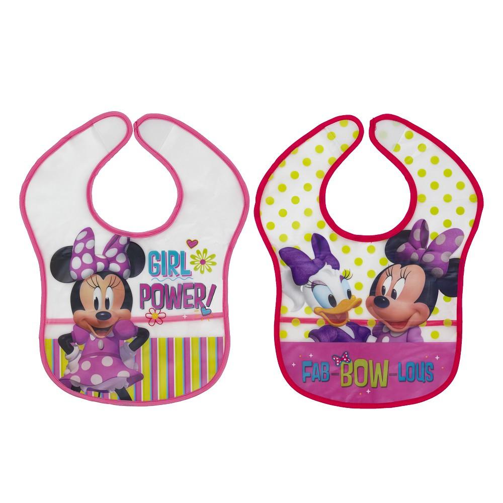 2 Disney Plastik-Lätzchen Minnie