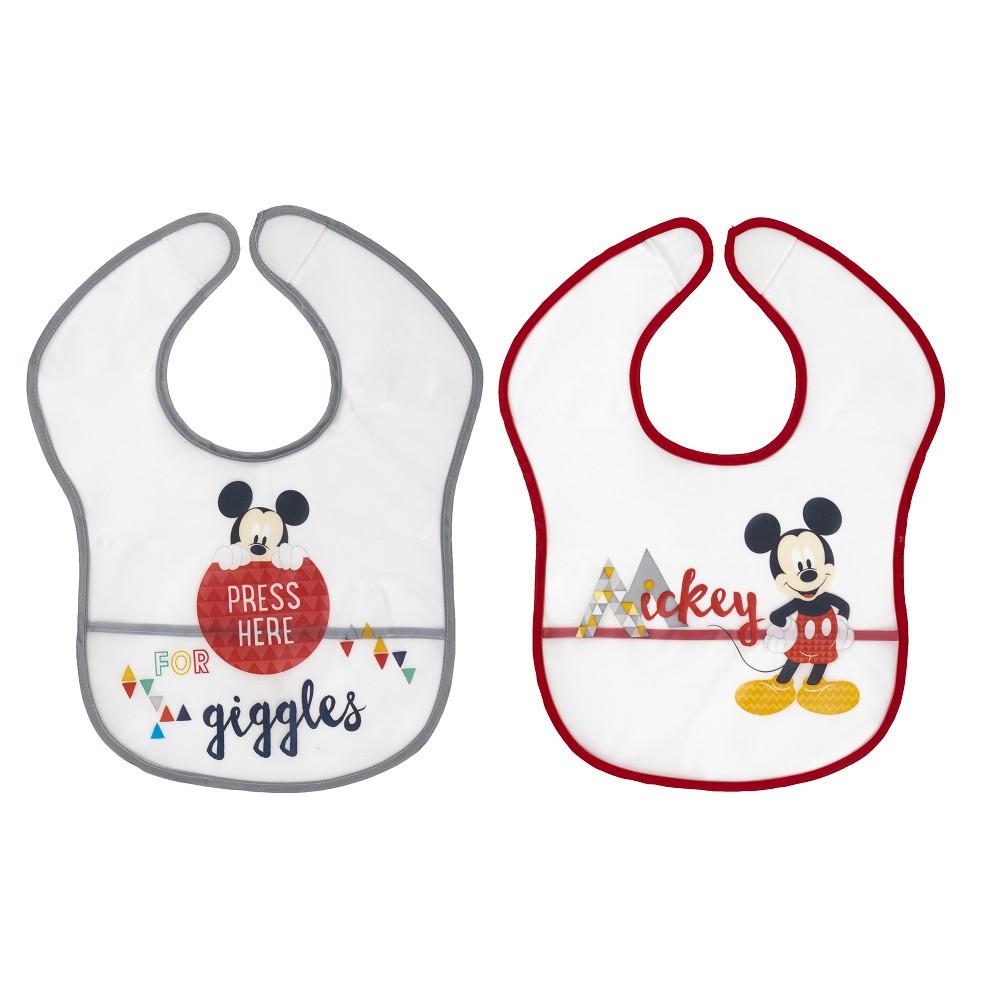 2 Disney Plastik-Lätzchen Mickey