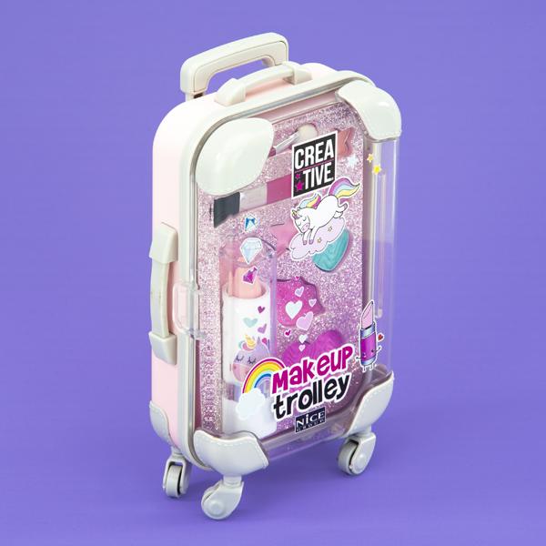 Mini Trolley Make Up - Rosa