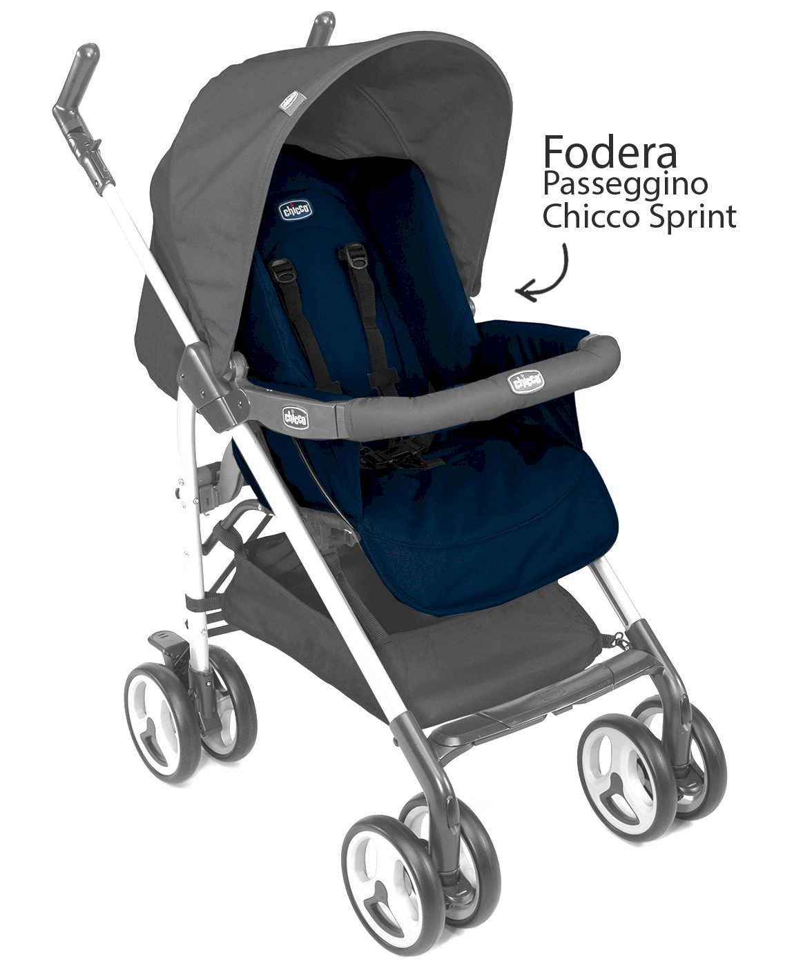 Chicco Kinderwagen Sprint Sitzeinhang Blau