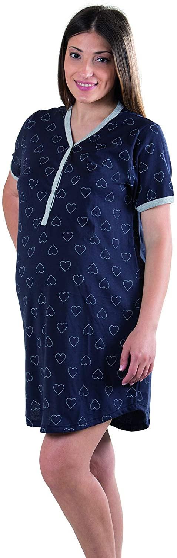 Camicia da Notte Blu a Cuori - T5