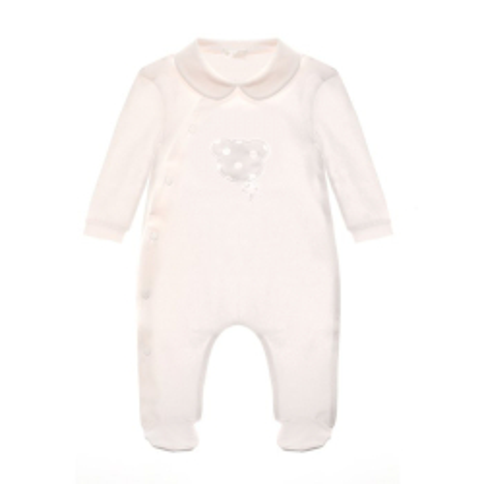 Pyjama Ouvert Étoiles Rose 0-6 mois