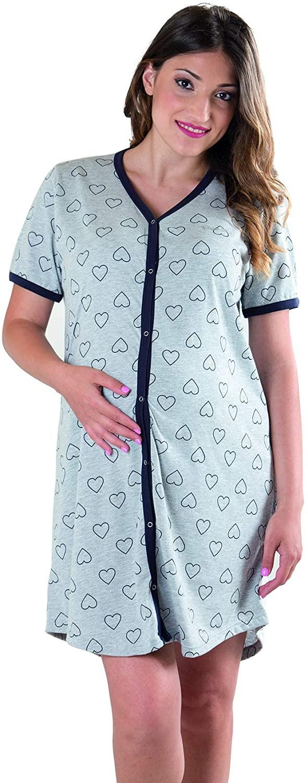 Camicia da Notte Grigia a Cuori - T7