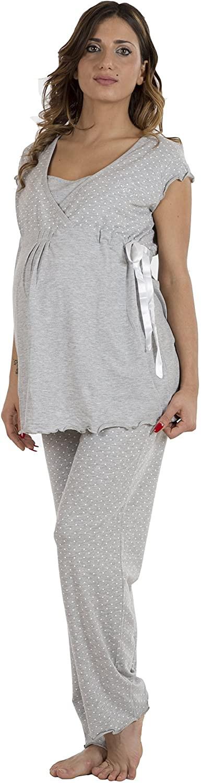 Pyjama Gris - Manches Courtes T3