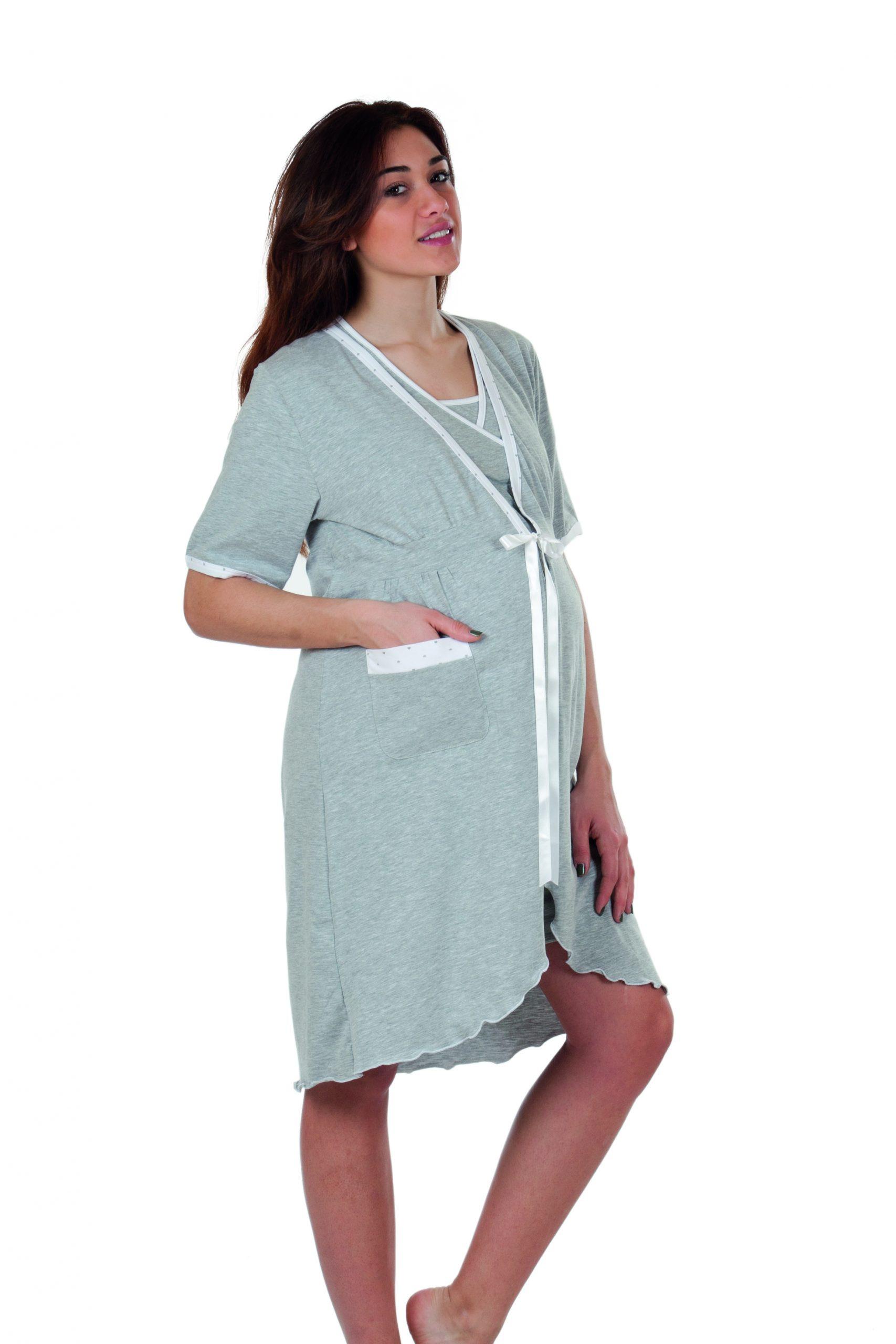Robe de Chambre - Manches Courtes Gris T5