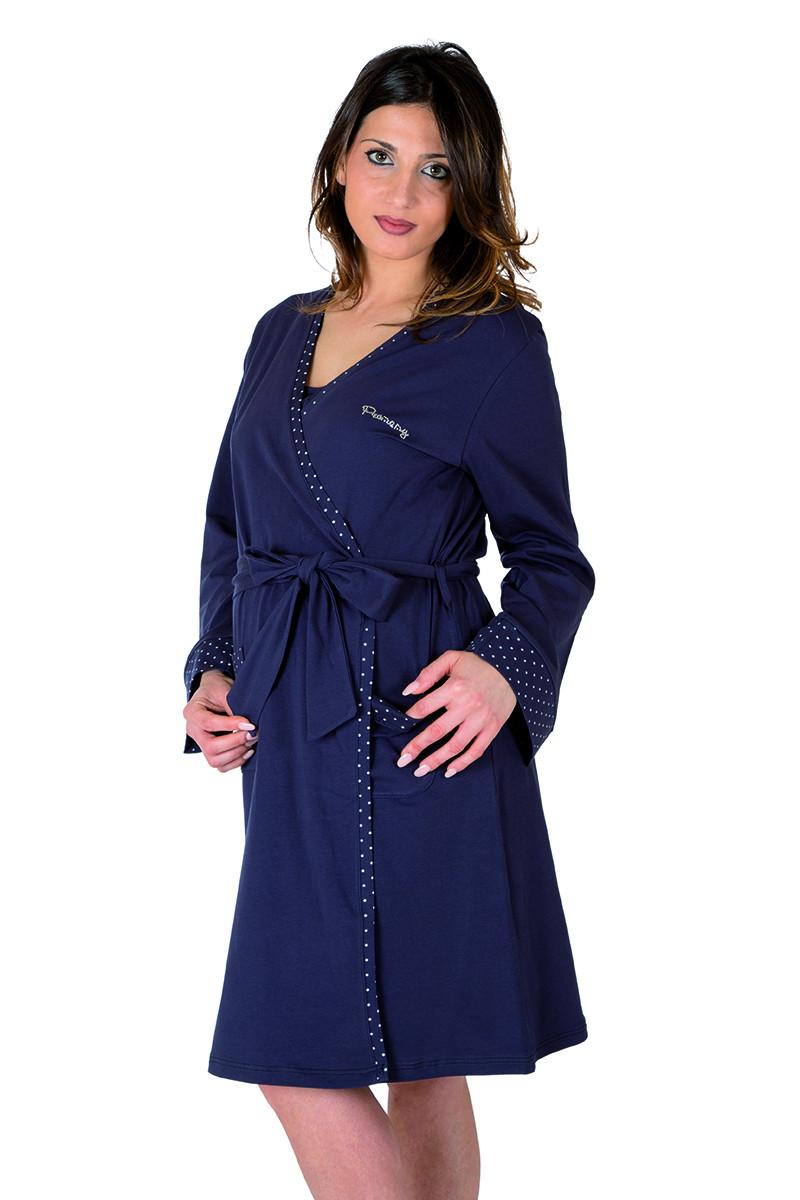 Robe de Chambre - Manches Longues Bleu T3